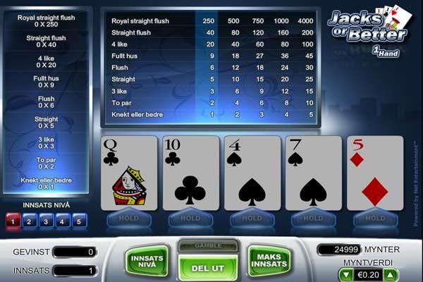 casinoeuro video-poker