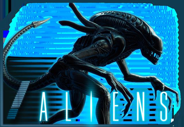 Aliens-Slot framed