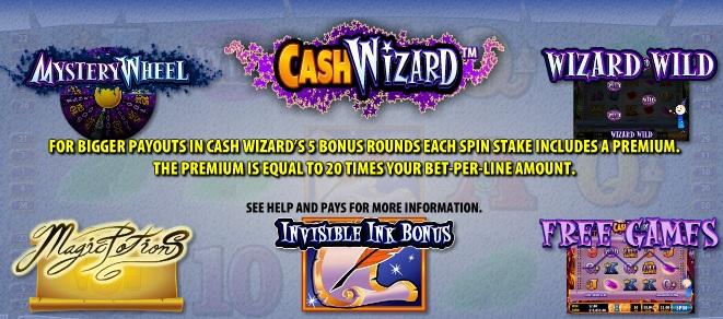 cash wizard features