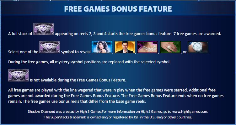 shadow diamond bonus game