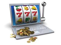 3d illustration of online jackpot concept
